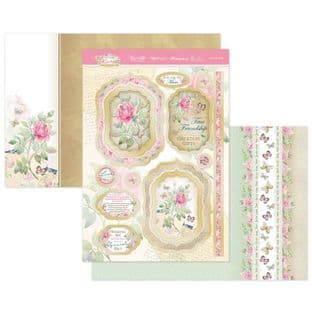 Hunkydory Forever Florals Rose  Luxury Card Topper Kit - So Very Loved