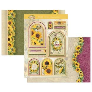 Hunkydory Forever Florals Sunflower Luxury Card Topper Collection - Grown With Love
