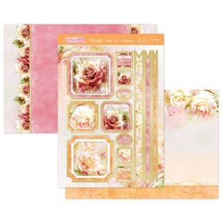 Hunkydory Paintdrop Florals Luxury Card Topper Collection - Everything's Rosy