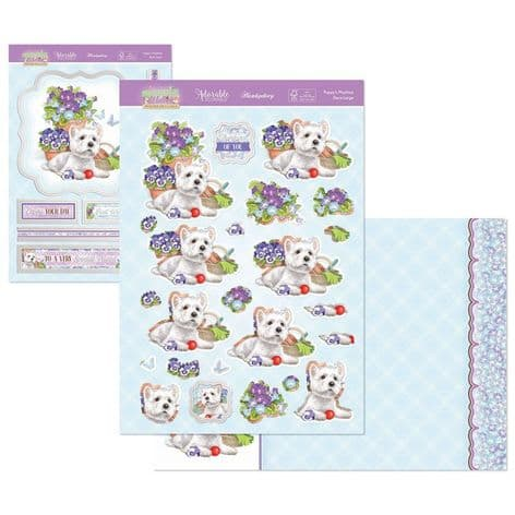 Hunkydory Springtime Wishes Deco-Large - Puppy's Playtime