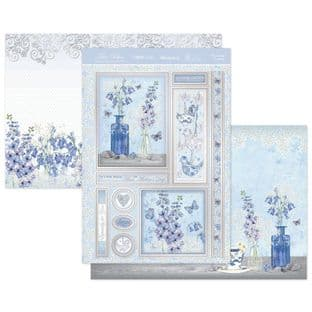 Hunkydory True Blue  Luxury Card Topper Kit - Blossoming Bluebells