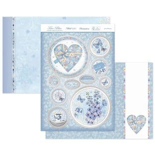 Hunkydory True Blue  Luxury Card Topper Kit - Love Blooms