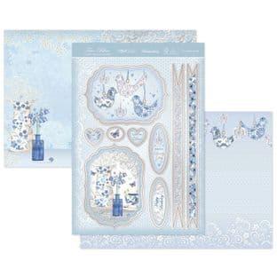 Hunkydory True Blue  Luxury Card Topper Kit - Porcelain Petals