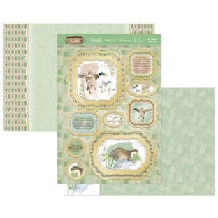 Hunkydory Woodland Wildlife Luxury Card Topper Collection - Mallard & Otter