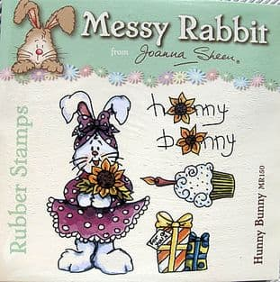 HUNNY BUNNY - MESSY RABBIT RUBBER STAMPS JOANNA SHEEN
