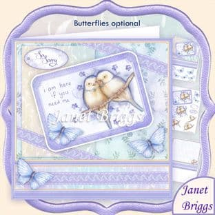 Im Here If You Need Me 8x8 Sympathy Decoupage  Card Kit digital download