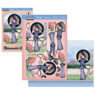 In the Rose Garden - The Golden Age of Glamour Hunkydory Die Cut Decoupage Kit