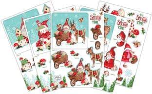It's Snome Time 10 Sheets 3D Die Cut Christmas Decoupage Set Craft Consortium