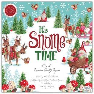 """It's Snome Time 6""""x6"""" Premium Paper Pad Craft Consortium"""