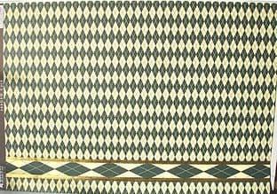 KANBAN A4 CARD HARLEQUIN, GREEN W/ FOILED BORDER