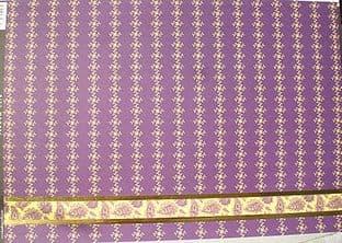 KANBAN A4 CARD MEHNDI PAISLEY, PURPLE W/ FOILED BORDER