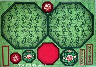 KANBAN CONCEPT CARD MAKING KIT - ORIENTAL DRAGON green