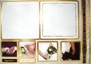 KANBAN CONCEPT CARD MAKING KIT - WEDDING gold 8015