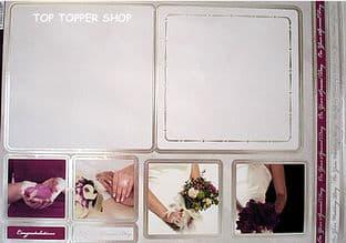 KANBAN CONCEPT CARD MAKING KIT - WEDDING silver 8016