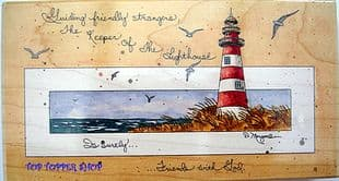 KEEPER OF THE LIGHTHOUSE RUBBER STAMP - STAMPS HAPPEN