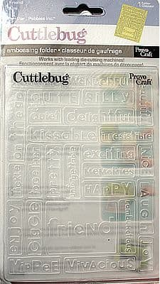 LARGE CUTTLEBUG EMBOSSING FOLDER * FRIEND *