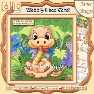LEGLESS SNAKE WOBBLY HEAD Card Kit digital download