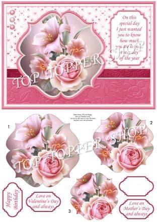 LILY ROSES & VERSE A5 Quick Pyramage printed sheet 926MB