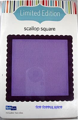 LIMITED EDITION QUICKUTZ DIES * SCALLOP SQUARE * for REVOLUTION