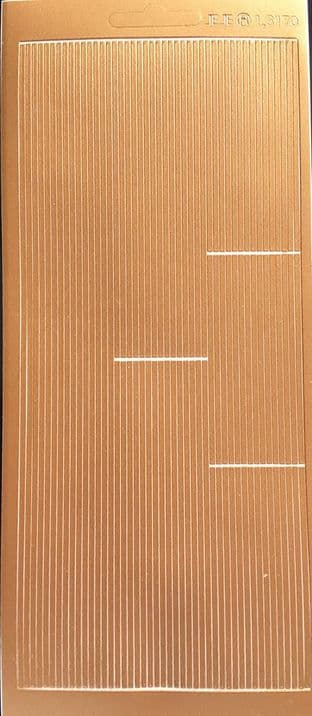 Line Borders 3 lengths Copper Peel Off Stickers 1.3170C