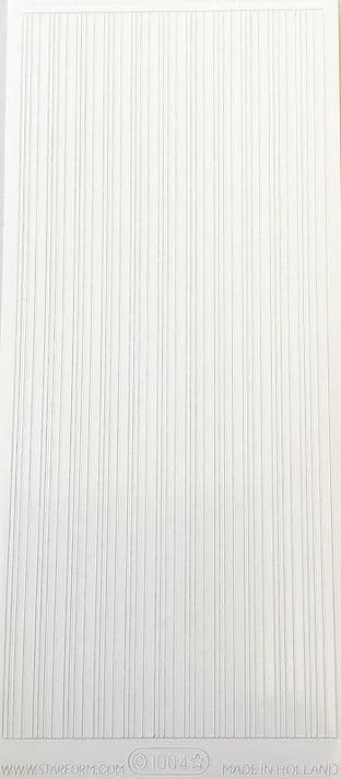 Line Borders White 4 Widths Starform Peel Off Stickers 1004