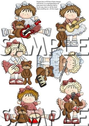 Little Pals Musical Exclusive Clipart Printed Sheet