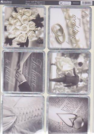 LOVE & HAPPINESS DIE CUT FOILED CARD KIT KANBAN 901525