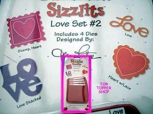 LOVE SET SIZZIX SIZZLITS CUTTING DIES 38-9698