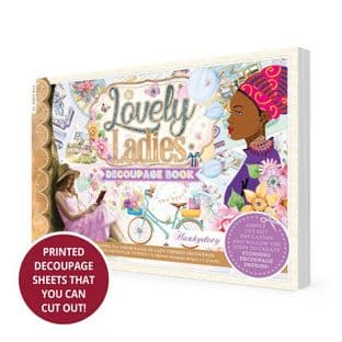 Lovely Ladies Hunkydory A5 Decoupage Book 72 pages Require Cutting