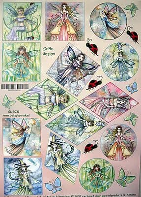MOLLY HARRISON FAIRIES 6031 TOPPER SHEET