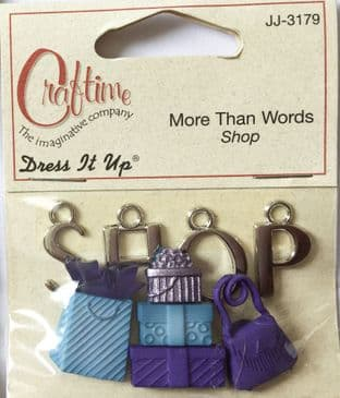 MORE THAN WORDS SHOP CRAFTIME DRESS IT UP BUTTONS JJ-3179