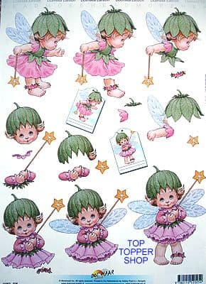 MOREHEAD DECOUPAGE 25 FLOWER FAIRY