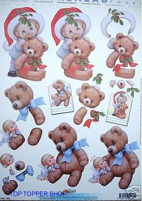 MOREHEAD DECOUPAGE 29 CHRISTMAS TEDDIES