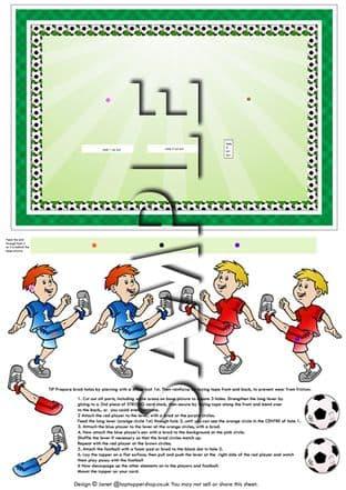 Moveable Decoupage Football Sheet
