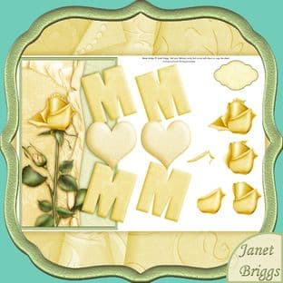 Mum & Lemon Rose Over The Sde Card Printed Sheet 415jw