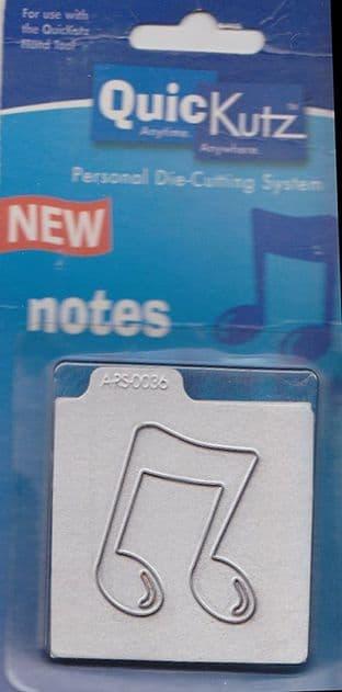 MUSIC NOTES QUICKUTZ SINGLEKUTZ DIE RS-0036