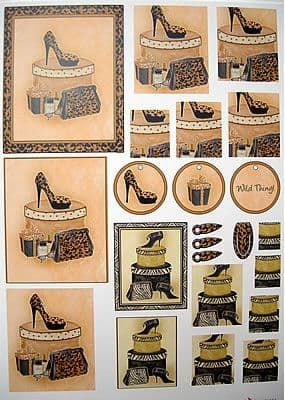 NANCY WATT SHOES STACK ITS DECOUPAGE 16