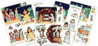 Nativity  10 Sheets Christmas 3D Decoupage Set Craft Consortium