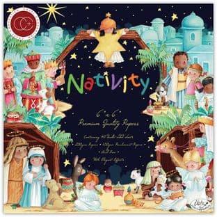 """Nativity 6""""x6"""" Premium Paper Pad Craft Consortium"""