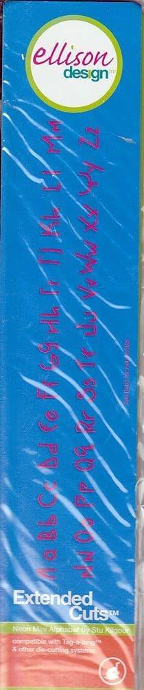 NEON MINI ALPHABET CUTTING  DIE ELLISON DESIGN EXTENDED CUTS 22501