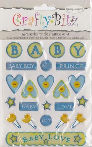 NEW BABY - CRAFTY BITZ  EPOXY RAISED STICKERS NDS570