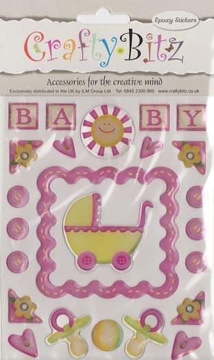 NEW BABY - CRAFTY BITZ  EPOXY RAISED STICKERS NDS571