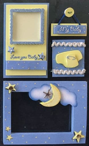 NEW BABY EMBELLISHMENTS - CRAFTY BITZ 3D STICKERS NDS530