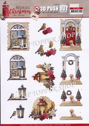 Nostalgic  Warm Christmas A4 Die Cut Decoupage Sheet Amy Design Push Out SB10484