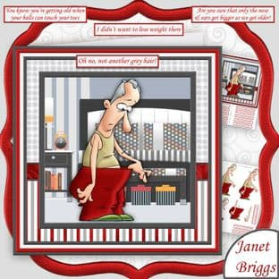 Oh No Not Another Grey Hair 7.5 Humorous Card Making Download by Janet Briggs