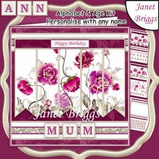 ORIENTAL FLORAL 7.5 Alphabet and Age Quick Card Kit digital download