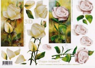 Pale Roses Le Suh Decoupage Sheet 4169160
