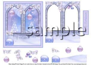 PASTEL CHRISTMAS SCENE decoupage digital download