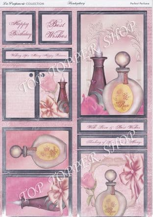 PERFECT PERFUME  DIE CUT FOILED TOPPERS  HUNKYDORY  LA PERFUMERIE COLLECTION