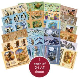 Perfect Planet Hunkydory 24 A5 Decoupage Sheets Require Cutting